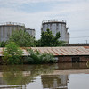 A building is almost entirely submerged in water in the Cité Kolongo neighborhood of Bangui in the Central African Republic.<br /> <br /> Photo: Itunu Kuku/NRC