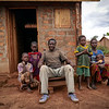 """Destin, 41, father of 5 children. With his family, Destin fled an attack against his village in 2014. """"We fled and hid in the bush. We lived like animals for two years in the bush"""" says Destin, a displaced from Zaire, a village located about 100km from Carnot, western Central African Republic.<br /> <br /> """"We didn't take any bag with us. We just fled. They killed 5 persons of our village including my aunt. She was shot three times; one to her neck, one to her chest, and another one to her lower abdomen.<br /> <br /> """"I had not returned there but a few days after the attacks, neighbors who went back to check on their property found her body, swollen, in state of decomposition. They dug a hole and buried her there.<br /> <br /> """"I could not distinguish if it was the Peuhls or anti-balaka militia that we firing at us. I don't meddle into politics, I don't carry weapons, I don't know how to fight, so why did this happened to us?<br /> <br /> """"It took us a year with my family to be reunited together in the bush. We fled in a scattered fashion, walked along the Mambéré River.<br /> <br /> """"Every day was about survival. Each day I wondered whether I will die or live. Within the first months of our flight, we could still hear gunshots. I would turn around to make sure my wife and children weren't shot by a stray bullet.<br /> <br /> """" we built a shelter made of tree leaves, straw and wooden sticks to sleep at night.<br /> <br /> """"The women would return to the village to find out if there was anything left they could bring back to eat. They would also take whatever they find dans les champs.<br /> <br /> """"After two years, fighting calmed and headed to Carnot. I found a home that was unoccupied. I just wanted to find a safe refuge for family until we could go somewhere else. I cleaned the house, put doors and windows on it. We lived there for another two years until the daughter of the owner of the house showed up. They had fled too and now intended to return. This was not m"""