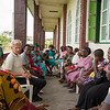 "Secretary General of the Norwegian Refugee Council Jan Egeland visited Buea in South West in Cameroon Tuesday 23 April. There he met with a group of women who have been displaced by the mounting crisis in the Anglophone parts of Cameroon. <br /> <br /> ""A group of displaced and disillusioned women told me that they felt abandoned by the UN and international organizations. They asked me, what is Europe doing? Given that the country was first colonized by the Germans, then divided by Britain and France, they expected their former colonial masters to take some responsibility for the conflicts that the imported language and political barriers had caused,"" he said.<br /> <br /> The women had received a package with household items from the Norwegian Refugee Council, including plastic sheeting, ropes and some tools to build an emergency shelter, kitchen utensils, hygiene articles, mats and mosquito nets. <br /> <br /> Their main wish was for peace to return and for a chance to return home and rebuild their lives. <br /> <br /> Photo: NRC/Tiril Skarstein"