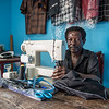 Tailor Achu (55) and his family have fled from Manyu and sought safety in Buea after their home was burned down. In the middle of the crisis, he is glad he was able to bring his sewing machine, enabling the family to continue to get some income. <br /> <br /> Photo: NRC/Tiril Skarstein