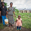 Achu (55), Minette (38) and their little daughter Fevour (2) have fled from Manyu and sought safety in Buea after their home was burned down. <br /> <br /> Photo: NRC/Tiril Skarstein