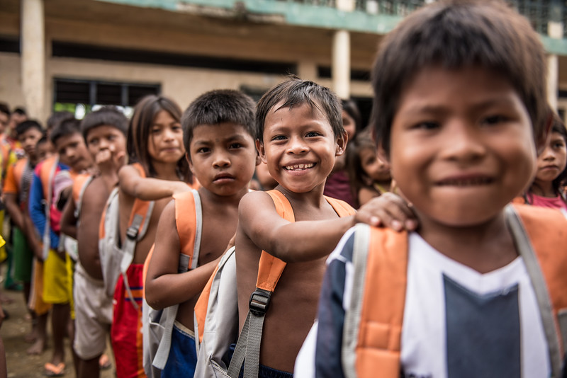 Since October 24, 1142 indigenous (Catru) fled their lands as a result of the murder of a leader. Many displaced children need education, but there is no room for everyone at the school. They ask for help to improve their school facilities<br /> <br /> Photo credit: NRC / ANA KARINA DELGADO