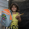 Arianna Ruiz (8) and her new school supplies