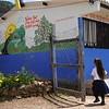 Girl going to school in 'El Catatumbo'