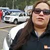 Maykelys Pacheco at Rumichaca border crossing- Spanish