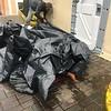 People sleeping in rubbish bags