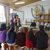 Info session in church in Southern Quito
