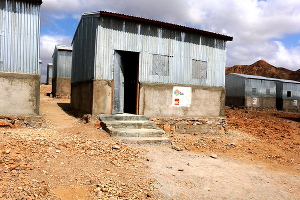 Hybrid shelters constructed in Ali Addeh