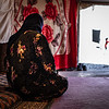 Haifa is a widow of a former IS group member, now rejected by her community - Displacement camp, Iraq