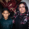 A widow of man killed by IS group and her son - Hawija