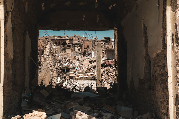 Destruction of old Sinjar