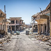 A deserted street in Sinjar's old city