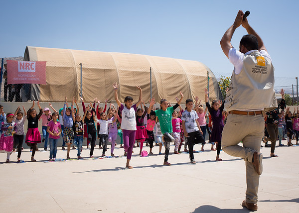 NRC recreational activities for Yazidi children in a camp near Dohuk