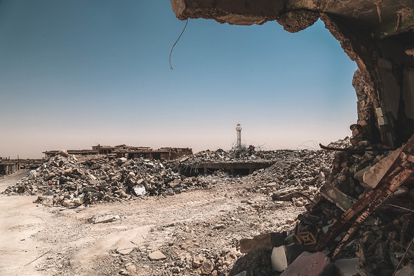 Sinjar old city totally destroyed