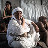 Three generations of Yazidi women in their tent - Displacement camp near Dohuk