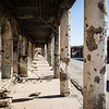 What used to be Sinjar's main shopping street, now riddled with bullet holes