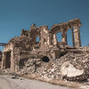 The ruins of a building on top of Sinjar's old city