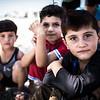 Yazidi children in a displacement camp near Dohuk