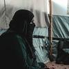 Hana - An undocumented woman in her tent - Displacement camp, Kirkuk