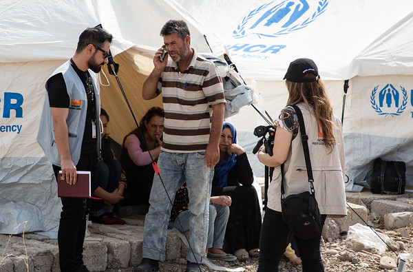 NRC education specialist assessing education needs in Bardarash camp