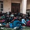 Reception centre in Kala Meera village close to the Iraq-Syria border.