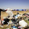 Child at improvised rubbish dump in the transit area of Domiz camp. Photo: NRC/Christian Jepsen