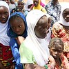 Young girls look on at a displacement center in Bandiagara town Mopti.<br /> <br /> Photo Credit: Itunu Kuku/NRC