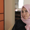 Manarah Qudaih - her husband was shot in the leg during the 'Great March of Return' in Gaza