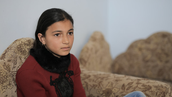 Reham – the 14 year old girl's father was shot during the 'Great March of Return' in Gaza.
