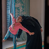 Nour and her mother, Umm Muhammad, doing breathing exercises at home.<br /> <br /> Photo: Ahmed Mashharawi/NRC