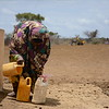 Fetching water from a new borehole in Baidoa