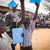 """Kuma (10) has just received his exam results and was 7th in class. That is a great achievement in a class with about 80 students. <br /> """"I was attending classes every day and I was doing my home work. I like going to school. I like writing"""".<br /> """"We came here from Bentiu earlier this year. In Bentiu we had a good life. Here everything is more difficult.""""<br /> """"We had a grass hut, but here we are living in a tent. We used to have a nice bed with mattresses, but here we are only laying on carpets. I slept better back home"""". <br /> """"We came to stay here with a sister who was already here.""""<br /> """"I study hard so that I can be able to support my parents in the future. So I can get an income and make sure we have enough to eat"""". <br /> """"I want to become a doctor, and to work in a hospital and help sick people.""""<br /> """"I want the country to be in peace, so that we can go back to Bentiu.""""<br /> What is peace? """"I do not know"""". <br /> <br /> <br /> NRC's education projects in the protection of civilians sites in Juba are funded by UNICEF. This photo is from Hope primary school in POC3. The school has more than 3000 students from 1st to 8th grade and is running two shifts a day.  <br /> Photo: Norwegian Refugee Council/Tiril Skarstein"""