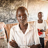 """Marte (13): <br /> """"When I hear the word peace I think about people who love each other and who can stay together without fighting. I want peace, because I want to go back to our village close to Bor, where we came from,"""" said Marte (13). She is currently living in a UN protection site in Juba."""