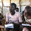 """Betty (14): <br /> """"I hope for peace, so everyone can return to their villages and we will have enough food to eat,"""" said Betty (14), who has fled from Mukaya to Yei.  <br /> What is peace for you?<br /> """"When people are free to move, free to talk and there is no fighting,"""" she explained."""