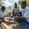 A brick making class run by the NRC (Photo: Charlotte Allan)