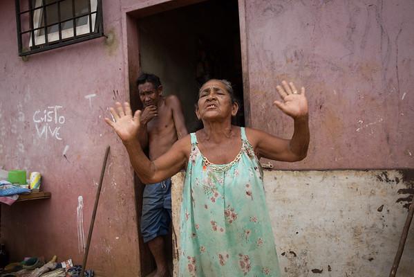 Warao community outside Puerto Ordaz