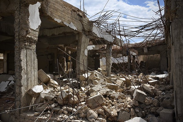 9 civilians living inside this house were instantly killed when strikes hit last year. Attacks from both parties on civilians and civilians infrastructure continue in Yemen's war. Tens of thousands of civilians have been killed in the war so far. <br /> <br /> Photo: Becky Bakr Abdulla/NRC, 4 September 2018