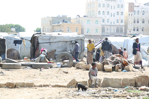 There are more than 50 displaced families from Hajjah and Hodeida living in Souk Al-Lail camp.<br /> <br /> <br /> Photo: Nasser Abdulkareem/NRC