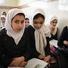 Elham (10) (in the middle) in Fath Girls High School.<br /> Photo: NRC/Tiril Skarstein