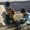 Marwa and Fareaon are spending almost all day outside playing with mud. <br /> <br /> Marwa's family have forced to return from Pakistan to Afghanistan in August 2016.<br /> photo: NRC/Enayatullah Azad, Jalaabad