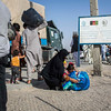 An Afghan family deported from Iran arrives at the DoRR office on the border in Nimroz province. (NRC/Jim Huylebroek)