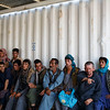 Afghans recently deported from Iran wait to be registered at the DoRR office on the border in Nimroz province.  (NRC/Jim Huylebroek)
