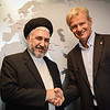 Afghan Minister for Refugees and Repatriation Mr Sayed Hussain Alemi Balkhi meets with Secretary General of the Norwegian Refugee Council Jan Egeland in Oslo, Norway 26 August 2016. Photo: Tiril Skarstein, NRC