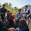 An afghan family sitting into a truck has just returned to Afghanistan through Pakistan's border crossing, Torkham, and the DoRR staff at Torkham transit center registering the family upon arrival.  <br /> Photo: NRC/Enayatullah Azad