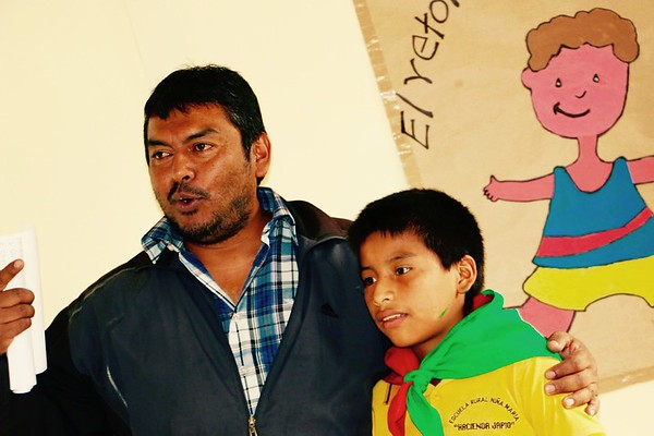 Edgar Paví, the school director  (El Congo Village)