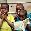 Three displaced children met at Luhusha primary school/Masisi.