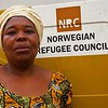 Beatrice Lusamba, an NRC Liaison Officer in Kananga/DR Congo