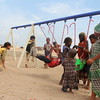 Alofa (10, yellow dress)<br /> Ma'na' (boy with stripes s-shirt)<br /> Saed (2, little boy on swing) <br /> Dawood (7, on the swing)<br /> Fadiga (gir with blue singlet)<br /> Zainab (girl with orange shawl)<br /> Ali (little boy wearing a dress)<br /> Aisha (8, green dress)