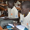 Students in Accelerated learning programme (ALP) class wearing their uniform provided by NRC. <br /> <br /> Kule, Gambella IN Ethiopia. ALP is funded by UNHCR, NMFA and NRC Private Donors.<br /> <br /> Photo: NRC/Emebet Abdissa