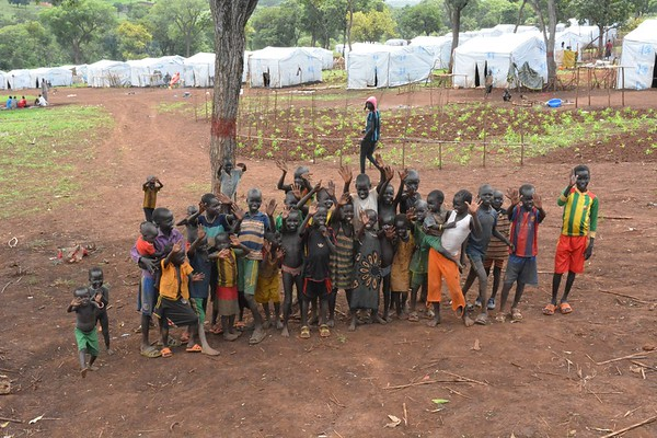 The children of Gure camp
